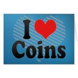 Amo monedas tarjeton