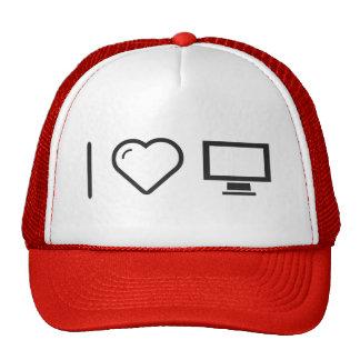 Amo monitores grandes gorras de camionero