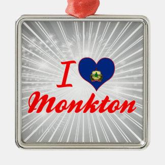 Amo Monkton, Vermont Adorno Navideño Cuadrado De Metal
