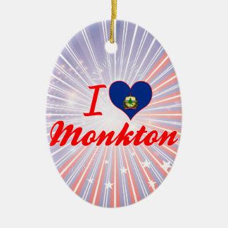 Amo Monkton, Vermont Adorno Navideño Ovalado De Cerámica