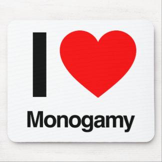 amo monogamia alfombrillas de ratones