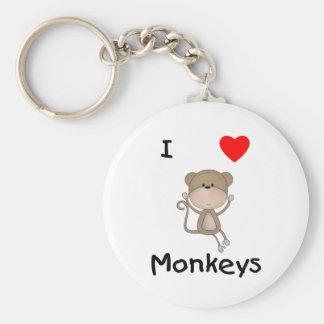 Amo monos 2 llaveros personalizados
