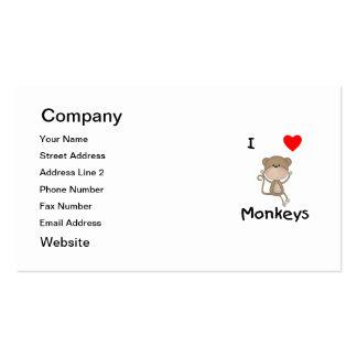 Amo monos 2 tarjetas de negocios