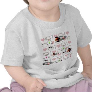 Amo monos en espacio camisetas