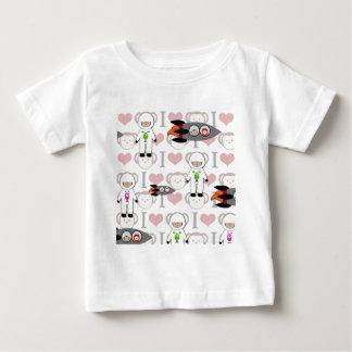 Amo monos en espacio t-shirt