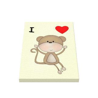 Amo monos lona envuelta para galerias