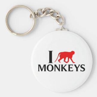 Amo monos llavero redondo tipo pin