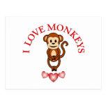 Amo monos postal
