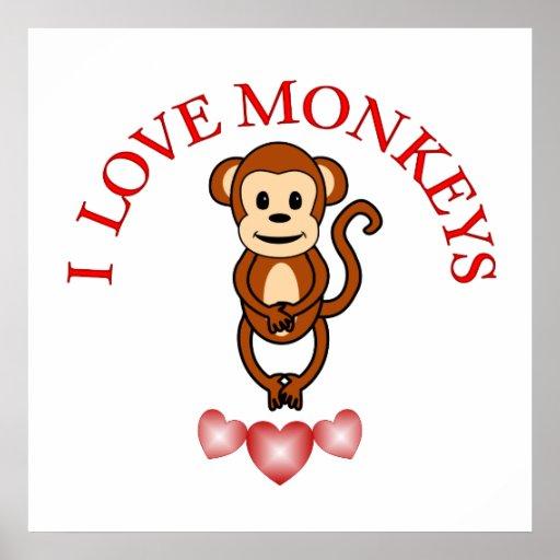 Amo monos poster