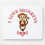 Amo monos tapete de raton