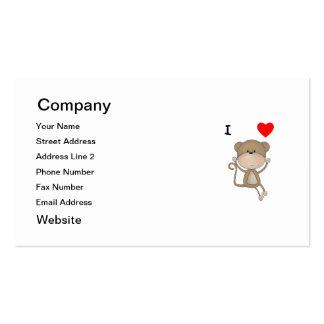 Amo monos tarjeta de negocio