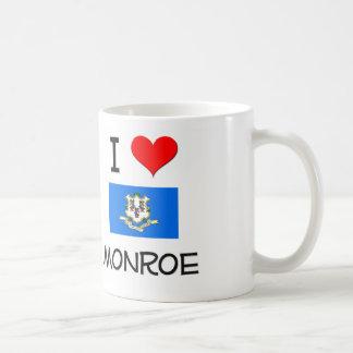 Amo Monroe Connecticut Tazas De Café