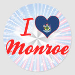 Amo Monroe, Maine Etiqueta Redonda