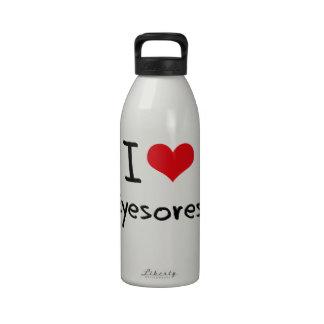 Amo monstruosidades botella de agua reutilizable