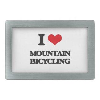 Amo montar en bicicleta de la montaña hebilla cinturón rectangular