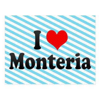 Amo Monteria, Colombia Tarjeta Postal