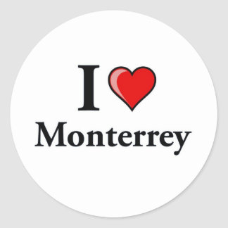 Amo Monterrey Pegatina Redonda