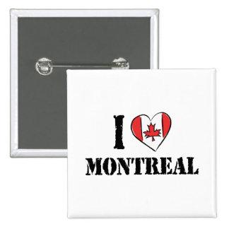 Amo Montreal Canadá Pin Cuadrada 5 Cm