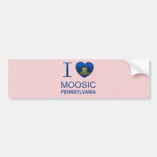 Amo Moosic, PA Pegatina De Parachoque