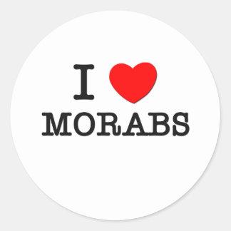 Amo Morabs (los caballos) Pegatina Redonda