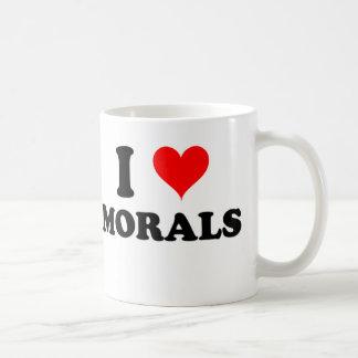 Amo moralejas taza básica blanca