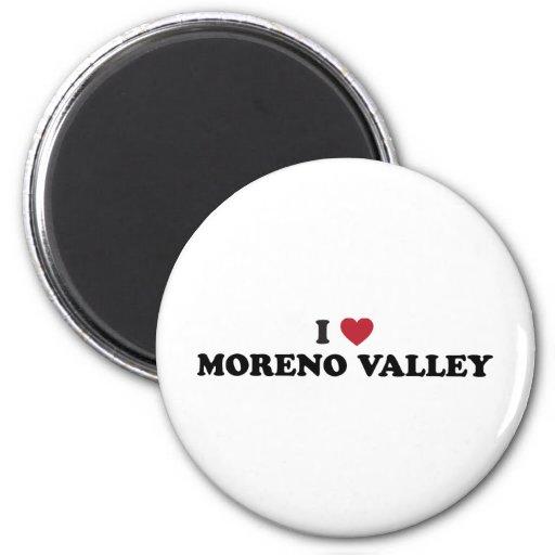 Amo Moreno Valley California Imán Redondo 5 Cm