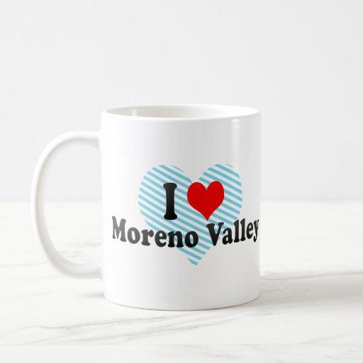 Amo Moreno Valley, Estados Unidos Taza Básica Blanca