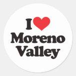 Amo Moreno Valley Etiqueta Redonda