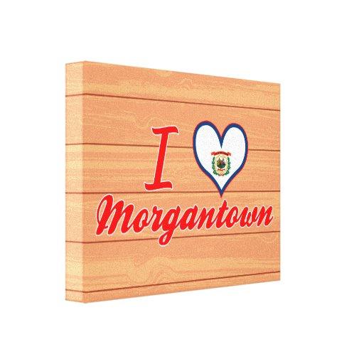 Amo Morgantown, Virginia Occidental Impresión En Lona