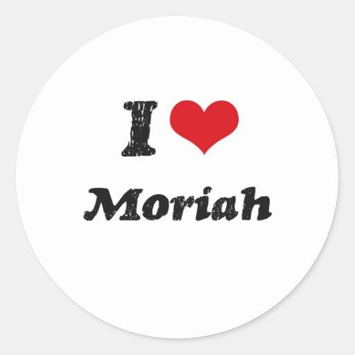 Amo Moriah Etiqueta Redonda