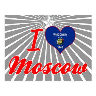 Amo Moscú, Wisconsin Tarjeta Postal
