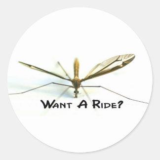 Amo mosquitos pegatina redonda