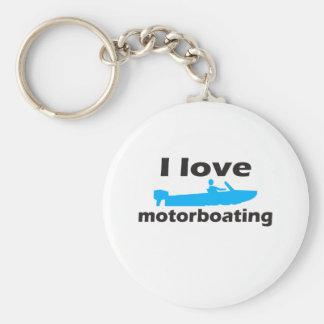 Amo Motorboating Llavero