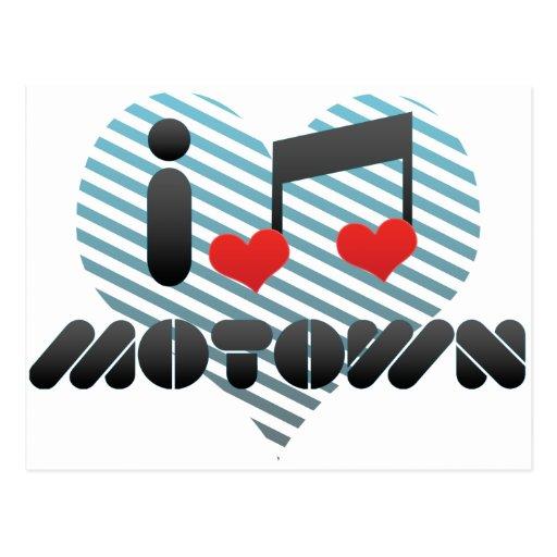 Amo Motown Tarjeta Postal