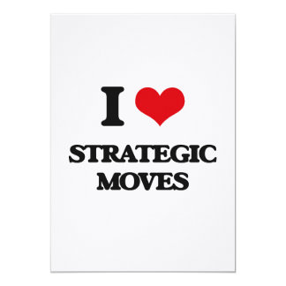 Amo movimientos estratégicos invitación 12,7 x 17,8 cm