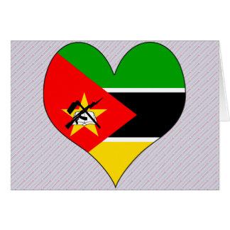 Amo Mozambique Tarjeta De Felicitación