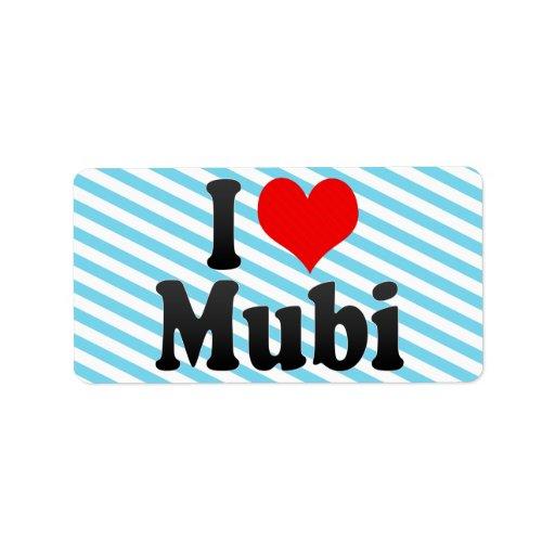 Amo Mubi, Nigeria Etiqueta De Dirección