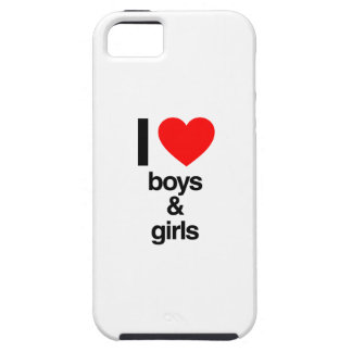 amo muchachos y a chicas iPhone 5 Case-Mate protector