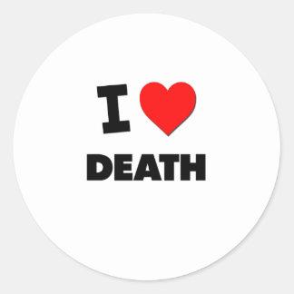 Amo muerte pegatina