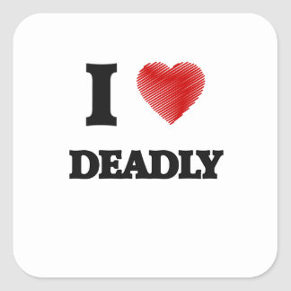 Amo muerto pegatina cuadrada