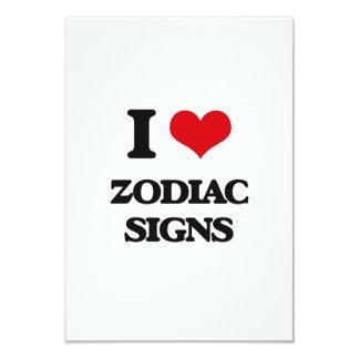 """Amo muestras del zodiaco invitación 3.5"""" x 5"""""""