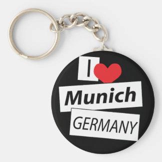 Amo Munich Alemania Llavero Redondo Tipo Pin