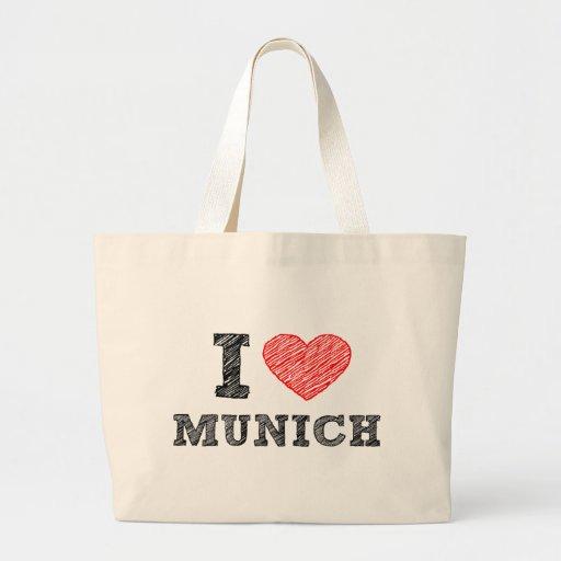 Amo Munich Bolsas Lienzo