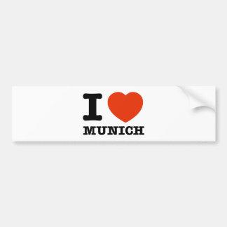 Amo Munich Etiqueta De Parachoque