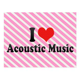 Amo música acústica postal