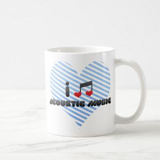 Amo música acústica taza