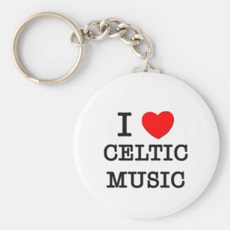 Amo música céltica llavero redondo tipo pin