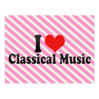 Amo música clásica tarjetas postales