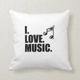 Amo música almohadas