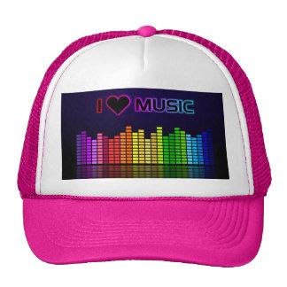 Amo música con Equilizer Gorros Bordados